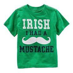 "Toddler Boy Carter's ""Irish I Had a Mustache"" Graphic Tee"