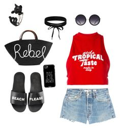 Summer festival by begumbs on Polyvore featuring polyvore, moda, style, GCDS, RE/DONE, Schutz, Eugenia Kim, Boohoo, Casetify, Alice + Olivia, fashion and clothing