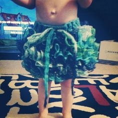 The front of the ruffle tutu DIY skirt :)