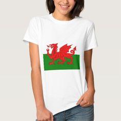 Wales  Welsh flag tshirt