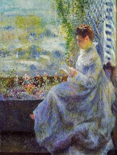 Pierre-Auguste Renoir (French Impressionist Painter, 1841-1919)  Madame Chocquet Reading 1876 bjws.blogspot.com