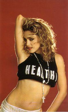 madonna healthy slogan shirt
