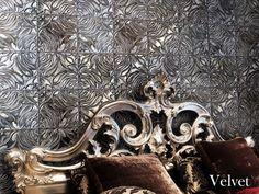 DXUCollections Velvet series - recycled aluminum tile inspired by luxurious velvet brocade