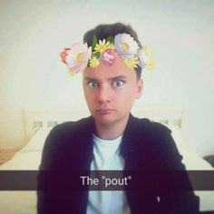Thought I might pin this #conormaynard #snapchat #filters #cute