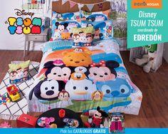 Edredon Tsum Tsum con los personajes preferidos de disney para los mas pequeños!