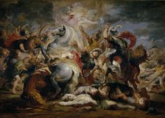 Peter Paul Rubens, The Death of the Consul Decius, 1616 - Oil on panel, Madrid, Museo Nacional del Prado. Peter Paul Rubens, Baroque Painting, Renaissance Art, Rembrandt, Art Reproductions, Art And Architecture, Drawing, Art History, Oil On Canvas