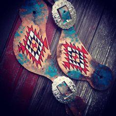Aztec Painted spur straps