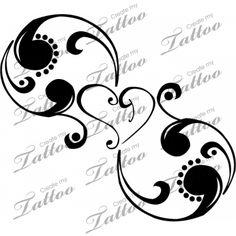 Infinity Sign made out of 2 initials custom tattoo | infinity update #8386 | CreateMyTattoo.com