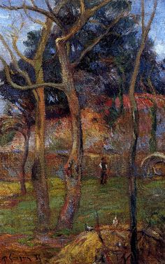 Paul Gauguin ~ Bare Trees, 1885 (oil on canvas)