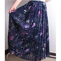 Women's Sky Chiffon Maxi Skirt