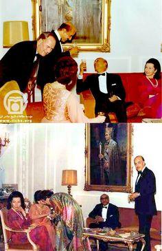 Fawzia, King Zaher Shah, Said Ansari, and Ashraf Pahlavi