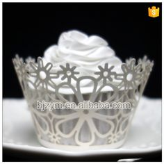 Check out this product on Alibaba.com APP Laser cutting white flower design fondant molds cupcakes decoration Cupcake Wrapper pastry tools for wedding home party
