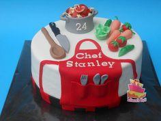 Themed Birthday Cakes, Birthday Party Themes, Chocolate Cream, Chocolate Cake, Chef Cake, 40th Cake, Baker Cake, Novelty Cakes, Cute Cakes