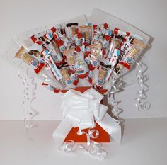 Bumper Kinder Chocolate Bouquet Sweet by RusticVintageHire