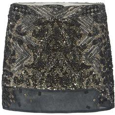 AllSaints Viper Skirt (210 CAD) ❤ liked on Polyvore featuring skirts, mini skirts, saias, bottoms, khaki, chiffon mini skirt, khaki skirt, sequin mini skirt, short chiffon skirt and embellished skirt