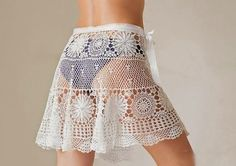 CROCHET BEACH SKIRT PATTERN INSTANT DOWNLOAD  This marvelous crochet skirt `s perfectly well for hot summer. Light and playful can be used in resorts places and for walking on the beach.  This skirt, as well as other fashionable items you can find as ready made item or to order in a shop of my good friend and prominent designer https://www.etsy.com/shop/katrinshine and http://www.livemaster.ru/katrinshine. Take a minute and check it out!  The pattern is written in English, using US terms…