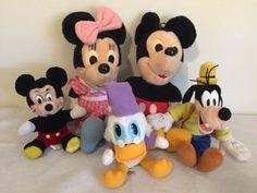 Disney-Lot-5-Minnie-Mickey-Mouse-Playskool-17-Plush-Polka-Dot-Goofy-Scrooge