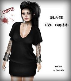 Corvus : Black Eve Dress