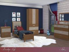 Brooklyn Kids bedroom by Lulu265 at TSR • Sims 4 Updates