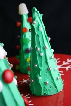 Ice Cream Cone Christmas Tree - Fun for my kids!