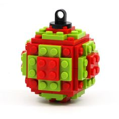 Christmas tree ball  ornament made with LEGO bricks a by agabag, $15.00