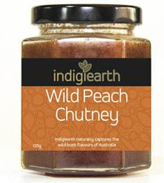 Indigiearth Wild Peach Chutney - 120g  Ingredients:  quandong, apple, spring water, cane sugar, onion, cider vinegar, salt, mountain pepper, lemon myrtle  A rich and spicy fruit chutney with the peachy apricot flavour of the Desert Quandong. A tiny hint of chili makes this chutney very versatile, great mixed through with sour cream or cream cheese to make a spicy dip $7.00