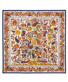 Cream Tree Of Life Silk Scarf, Liberty London    £135.00