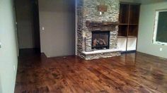 """Wide Plank Rustic Style:  """"Absolutely love these floors! We finished them in a golden bronze stain with 3 coats of poly and they turned out beautiful. All work was done by ourselves, not a professional, and they were easy to install."""""""