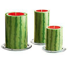 Pier 1 Imports - Watermelon Pillars. Fun candles for patio