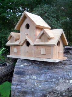 Birdhouse. 4 nest bird house.rustic folk art primitive made in the USA | Home & Garden, Yard, Garden & Outdoor Living, Bird & Wildlife Accessories | eBay!