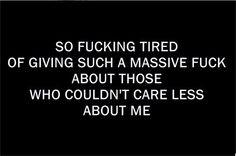 ..wish I didn't care