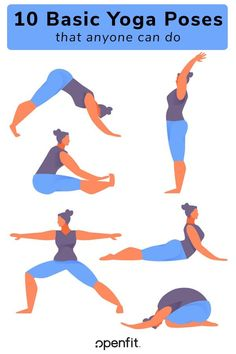 If you're new to yoga, there are plenty of simple postures you can do. Here are 10 basic yoga poses that any beginner could accomplish. Basic Yoga Poses, Yoga Poses For Beginners, Thigh Muscles, Core Muscles, Learn Yoga, How To Do Yoga, Yoga Flow Sequence, Corpse Pose, Bridge Pose