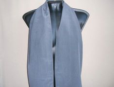 short scarf men vintage two sided gray silk neck scarf for men