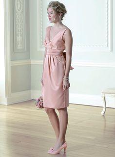 Eleanor Dusky Pink Satin Bridesmaid Dress - adult bridesmaid - wedding - Sale - BHS