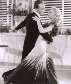 """Ginger Rogers """"I can do anything a man can do on the dance floor, in heels and backwards."""" pictured with Fred Astaire"""