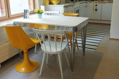 The 50´s table in a kitchen