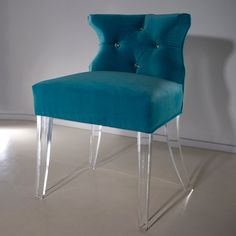 The Mia Chair with Swarovski Crystal button tufting. A set of these for my dream dining table.