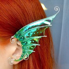 Elven Ear Cuffs Fairy Ear Cuffs Cosplay Elf Ear Cuffs, Fantasy Costume Ear Cuffs, Dragon Wings Ear Cuffs, Wire Ear Cuffs Set of 1 Pair Mermaid Earrings Wire Ear Cuffs, Elf Ear Cuff, Ear Jewelry, Hippie Jewelry, Skull Jewelry, Jewlery, Dragon Ear Cuffs, Gothic Corset, Gothic Lolita