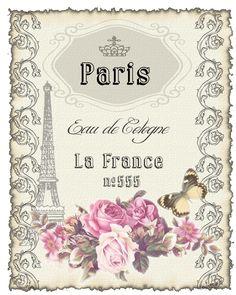 Etikette Paris Eau de Cologne -©CW