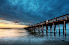 """""""Endless"""" (Lynnhaven fishing pier in Virginia Beach) by Yuzhu Zheng, featured in the Richmond Times-Dispatch on October 8, 2016. Fun Fact: This is a 2016 Virginia Vistas Photo Contest Honorable Mention winner in our Coastal & Chesapeake Bay Category. ENJOY!! #VirginiaVistas"""