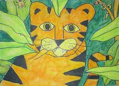 Rumriver Art Center - Art Projects for Homeschoolers: Artist: Henri Rousseau - Surprised! Storm in the Forest