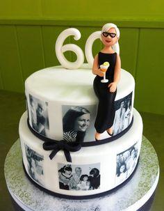 60th Birthday Cake For Ladies, Grandma Birthday Cakes, Grandma Cake, Moms 50th Birthday, 70th Birthday Parties, Birthday Woman, 60th Birthday Party Decorations, Celebration Cakes, Birthday Celebration