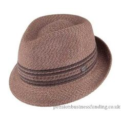 Authentic Trilby Hats – Bailey Hats Vito Teardrop Trilby Hat – Brown – 3805194A