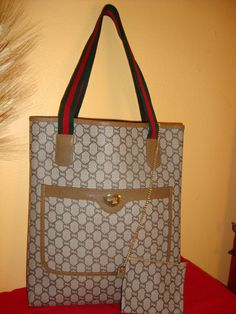 c5346c83671a Authentic Vintage Gucci Plus Brown by CountryCornerbyJenny on Etsy, $325.00 Gucci  Handbags, Tote Handbags