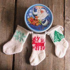 Christmas stocking knit mini socks Santa sock Holiday Decor