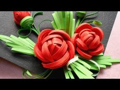 How To Make Beautiful Quilled Rose - DIY Tutorial - Guidecentral - YouTube