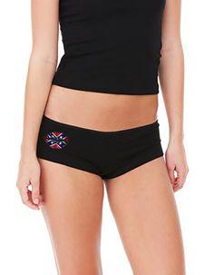 Southern Sisters Designs - Rebel Kiss Black Boy Shorts, $11.95 (http://www.southernsistersdesigns.com/rebel-kiss-black-boy-shorts/)