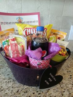 A great and affordable gift basket. Great for any occasion; birthdays, graduation, office giveaway, or just a gesture of encouragement.  This was made to motivate my friend to study and take her Board Certification exams. The basket and everything in it is either from Dollar Tree or the Dollar Spot at Target.