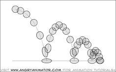 bouncing ball animation tutorial: bouncing ball arc paths and spacing
