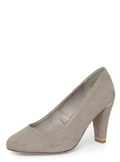 bfa7e152ab2 Wide Fit Grey  Emma  Court Shoes